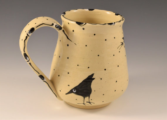 Maple Lane Pottery Raven Mug