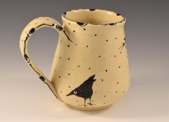 Maple Lane Pottery Raven Mug