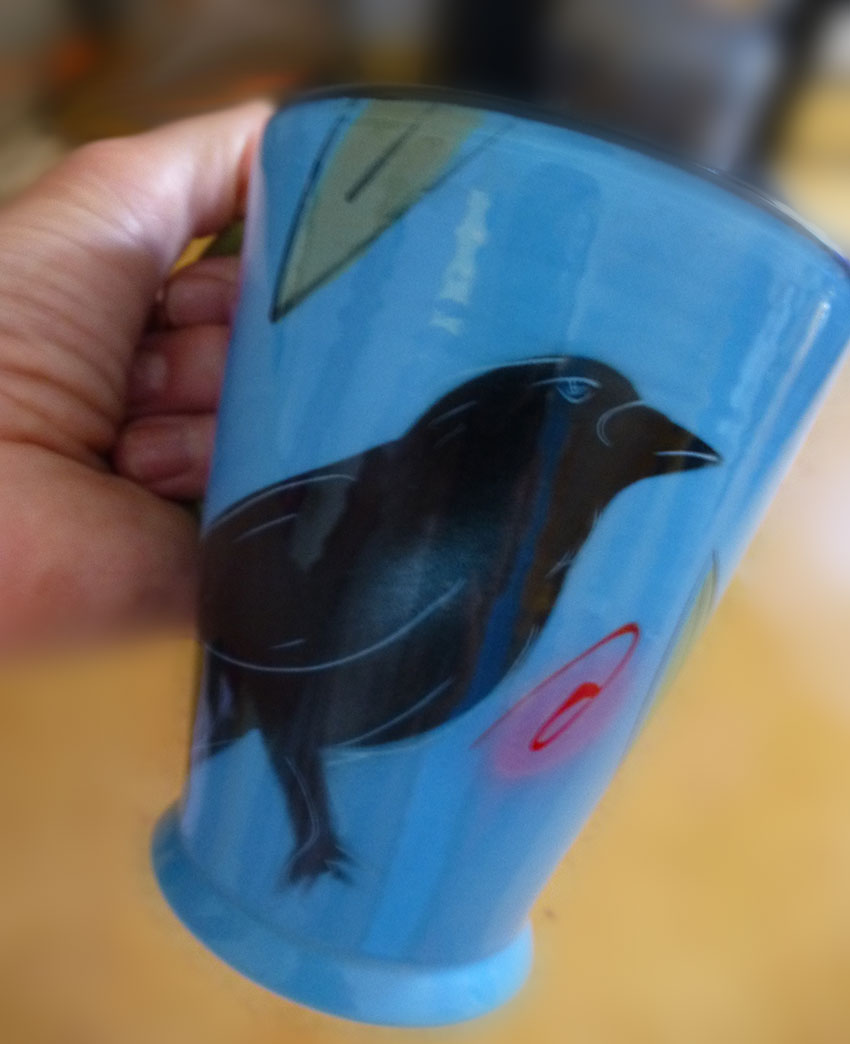My Favorite Raven Art Mugs