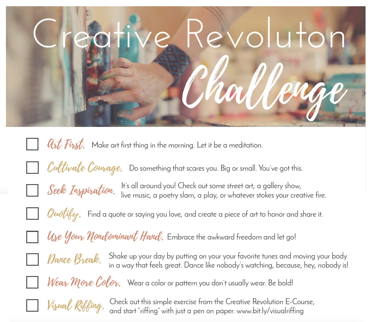 I'm doing Flora Bowley's Creative Revolution Challenge in Sept. #creativerevolutionchallenge