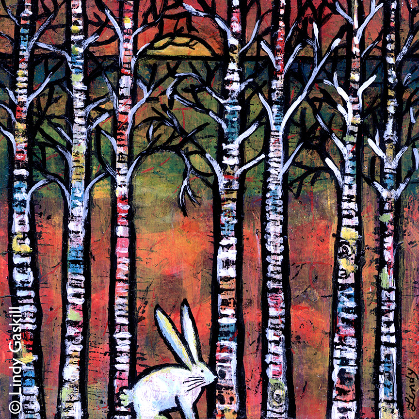 Follow the White Rabbit Painting