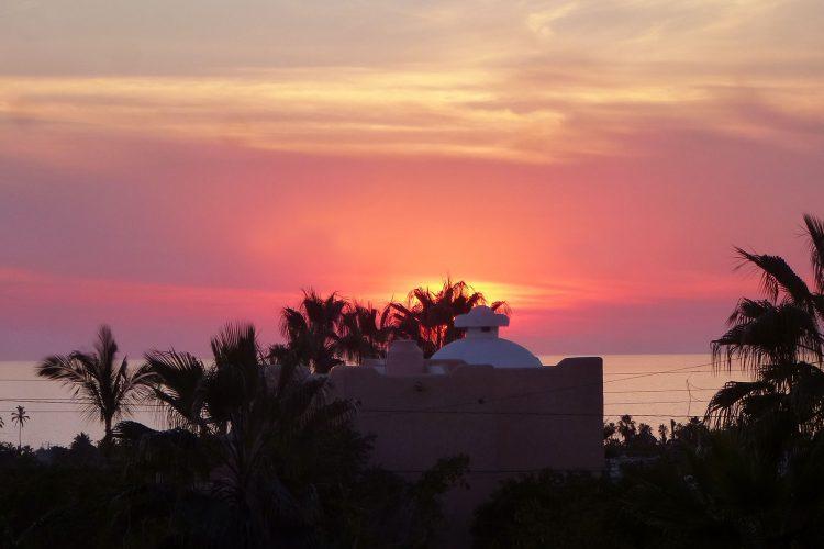 Pink sky baja sunset