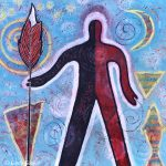 """""""Protected by Warrior Spirit"""" Whimsical Painting"""