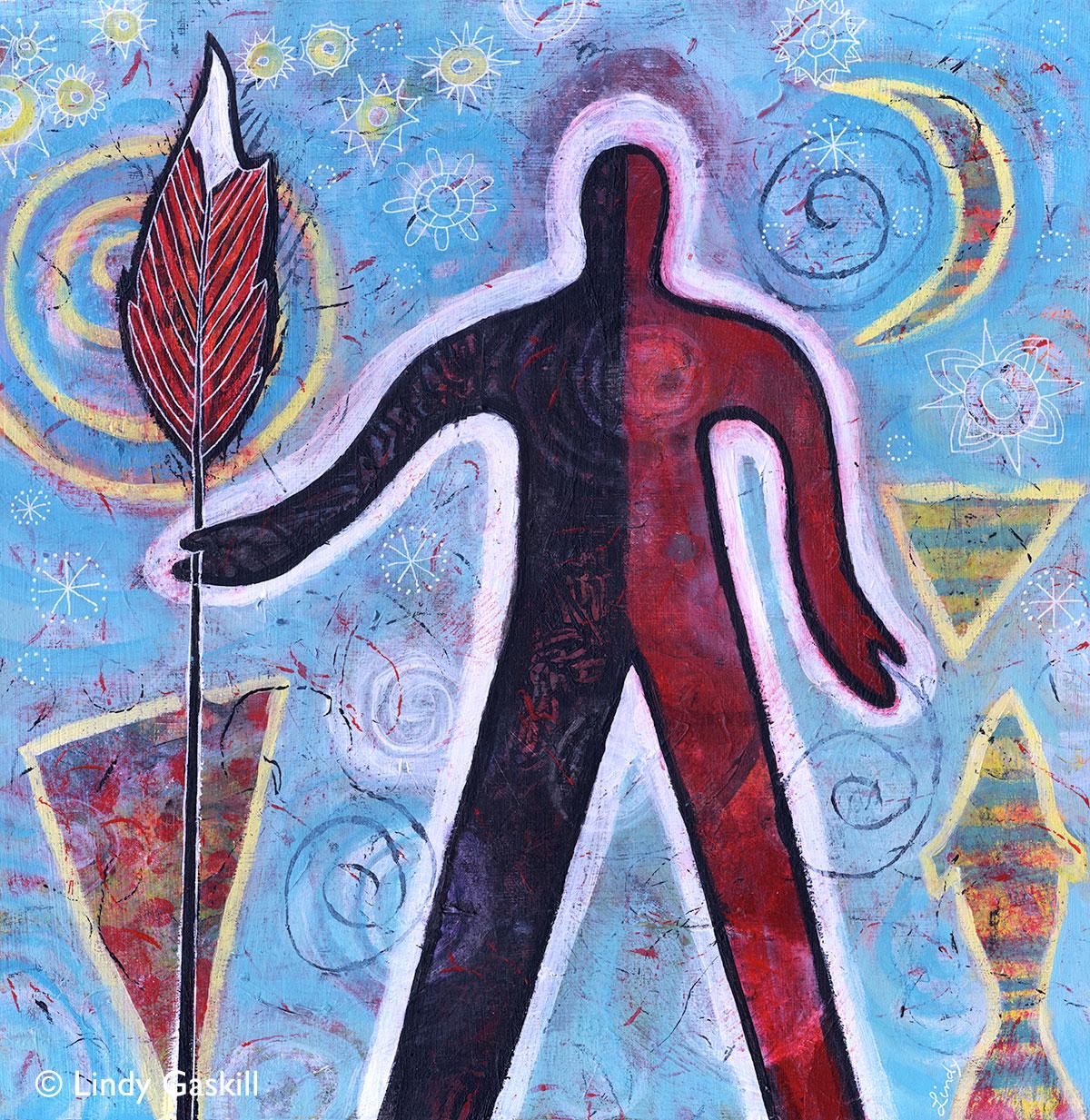 Warrior spirit painting