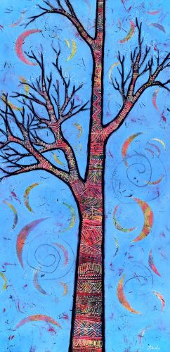 Whimsical Tree Painting