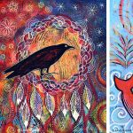 New Colorful Whimsical Acrylic Paintings