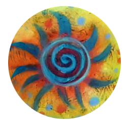 colorful swirl art